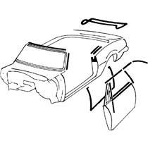 OER 68-69 Camaro Convertible Deluxe Interior Weatherstrip Kit w/ OEM Style Felts *R5119