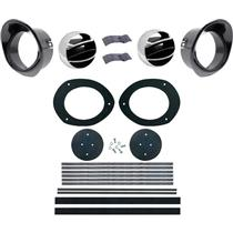 OER 1967-68 Firebird Astro Ventilation Vent Kit with Black Bezels *R566A
