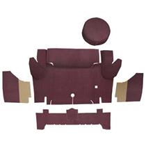 OER 1965-66 Mustang Convertible Loop Trunk Carpet Set with Boards - Maroon A4050A15