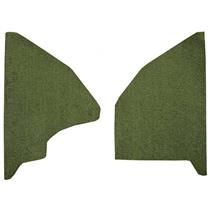OER 1973 Ford F-Series Kick Panel Inserts w/ Mass Backing - Loop - Moss Green F9551419