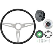OER 69-72 Comfort Grip Steering Wheel Kit w/o Tilt Wheel - Silver Spokes- Black Grip *K619