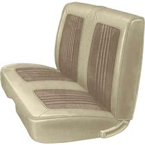 OER 68 Coronet/Road Runner Fawn / Oyster Vinyl Dlx Front Split Bench Seat Upholstery MB685633