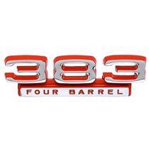 OER 1966-71 Mopar 383 Four Barrel Front Fender Emblem; Red / Silver; Each 2785749