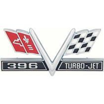"OER 1967 Camaro SS, 1965-67 Impala / Full Size ""396 V-Flag"" Front Fender Emblem 3867312"