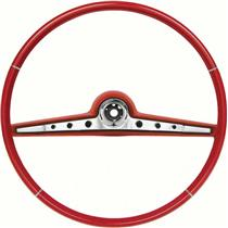 "OER 1962 Impala Steering Wheel; Standard and SS ; Red ; 17"" Wheel 768149"