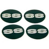 OER 1969-71 SS Wheel Cap Emblem Set - 4 Emblem Set *13946