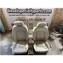 2001 - 2008 JAGUAR X-TYPE SEDAN CREAM LEATHER SEATS GOOD CONDITION CONSOLE