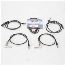 """5 Shure & Mogami WA304 Pro Mini-Connector 4-Pin Right-angled 1/4"""" Cables #39480"""