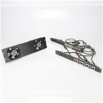 2 Instrument Bass Amp Acoustic Guitar DI Box Patchbay Racks w/ Fans  #39477
