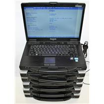 "6x Lot 15.4"" CF-52 Panasonic Toughbook Intel Core i5 2520M 2.6GHz DVD 2GB MK4"