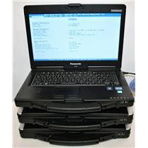 "3x Lot 14"" CF-53 Panasonic Toughbook Core i5 3rd 2.6GHz DVD 2GB Touch MK2 LOWHRS"