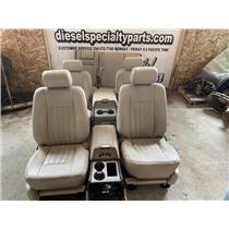 2003 - 2006 LINCOLN NAVIGATOR CAMEL BEIGE LEATHER SEATS OEM WITH CONSOLES