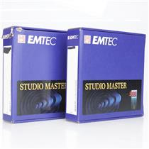 "2 EMTEC Studio Mastering Tape SM 900 Max 2"" 2500' Single Pass NAB Reel #38913"