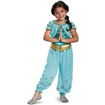 Jasmine Teal Aladdin Disney Prestige Princess Girl Costume Medium 7-8