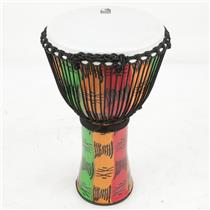 "14"" Toca Rope Tuned Djembe Percussion Drum w/ Bag #39799"