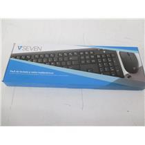 V7 CKW200MX MX Wireless Keyboard & Mouse Combo, Spanish Mexico - NEW