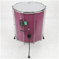 "LP LP3120 22"" x 20"" Aluminum Surdo Drums in Custom Purple w/ LEDS Shakira #39841"