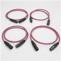 4 Apogee 3' Wyde Eye AES/EBU Digital Audio Cables #40003