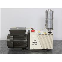 Used: Varian DS 602 Dual Stage Vacuum Pump 949-9335 w/ Oil Exhaust Filter 949-9392