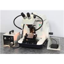 Used: Leica RM2155 Rotary Microtome with StereoZoom 6 Microscope & Light Source