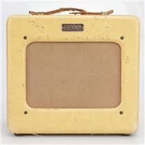 "1950 Fender Princeton Tweed 4W Tube Combo Amplifier 8"" Jensen TV Front #40375"