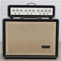 1967 Sears Silvertone Solid State 100 Model 1464 Amp w/ Piggyback 2x12 #40395