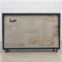 1960's Vintage Supro 2x12 Speaker Cabinet Cab Jensen Alnico 5 #40408
