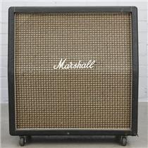 "1971 Marshall 4x10 Large Check Slant Cab w/ Celestion 10"" 9384 Green Back #40434"