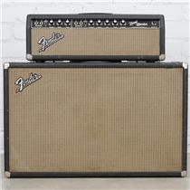 "1965 Fender BandMaster AB763 Tube Amplifier & 2x12"" Cabinet Oxford 12T6-9 #40460"