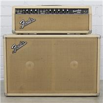 1964 Fender Tremolux AA763 Tube Amp Head & 2x10 Cab Cabinet Blonde #40489
