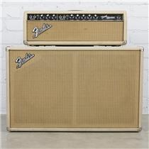 1964 Fender Bandmaster AA763 Tube Amp Head & 2x12 Oxford Cabinet Blonde #40488