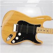 1976 Fender Stratocaster Hardtail Strat Natural w/ Original Case #40174