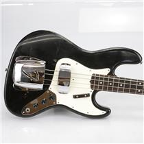 1964 Fender Jazz Bass Guitar Black Refinish #40189