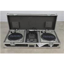 2 Technics SL-1200MK5 Turntables Rane TTM57SL DJ Mixer Black Eyed Peas #40571