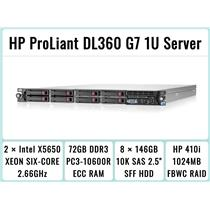 HP ProLiant DL360 G7 1U Server 2×Six-Core Xeon 2.66GHz + 72GB RAM + 8×146GB SAS