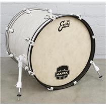 "Mapex MyDentity 20"" x 18"" Kick Bass Drum White Ripple Pearl #41073"