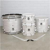 "Mapex MyDentity 4pc White Ripple Marine Pearl Maple Drums 24"" 18"" 14"" 13"" #41075"