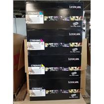 -NEW- OEM HIGH YEALD 4 TONERS SET FOR LEXMARK C782 X782 SERIES PRINTERS -NEW-