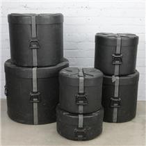 "6 SKB DRP4 Hard Shell Drum Cases 14"" Snare 12"" 14"" 16"" 18"" Tom  22"" Kick #41232"