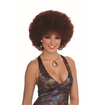 Disco Doll Afro Wig Red Reddish Brown 60's 70's
