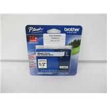 "Brother TZEMQ531 Tze Standard Adhesive Laminated Labeling Tape, 1/2"" Pastel Blue"