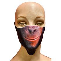 Child Reusable Halloween Face Cover Monkey Chimpanzee Design Cute Face Mask