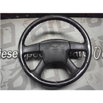 2006 2006 CHEVROLET 2500 3500 STEERING WHEEL LEATHER WRAPPED GREY FAIR CONDITION