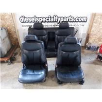 1992 - 1995 MERCEDES S600 BLACK LEATHER SEATS FRONT BACK OEM V12 SEDAN