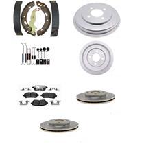 Brake Ceramic Pads Rotors Shoe Drums and Spring Kit Fit Honda Civic DX 2012-2015