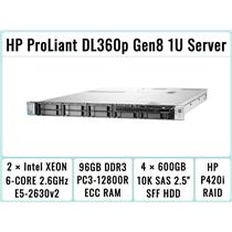 HP ProLiant DL360p Gen8 Server 2×E5-2630v2 Xeon 6-Core 2.6GHz + 96GB RAM + 4×600GB SAS