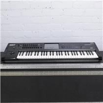 Korg Kronos X 61-Key Workstation Keyboard Synthesizer w/ Flight Road Case #42397