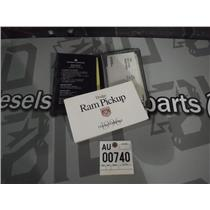 1996 DODGE RAM PICKUP 2500 OWNERS MANUAL MINT CONDITION OEM