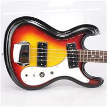 60s-70s Univox Hi-Flier Electric Bass Guitar Sunburst #42667