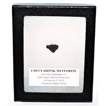 Chelyabinsk  METEORITE 1.9 gm w/Display Box, Label & COA E65